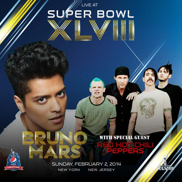 Get Hyped For Halftime! @brunomars invites @chilipeppers to join him at @SuperBowl on Feb 2! #Halftime http://t.co/0lEuZ24yRn