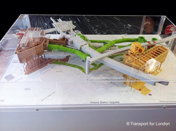RT @Hobs3D: #3Dprinted colour model of London Underground - Victoria Station. With ticket stations/ escalators - 1.5m x 1m. http://t.co/MGpzhG4Mm8