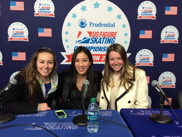 Press conference w/ @kimmiemeissner and @MichelleWKwan #throwbackthursday http://t.co/h53I4ZKWks