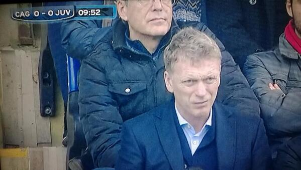 BdyRTbUIUAAtOx  Man United manager Moyes spotted at Cagliari v Juventus, rumoured to be scouting Davide Astori [Pictures]