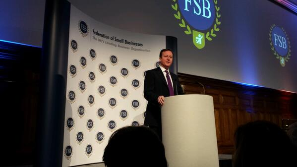 Prime Minister now speaking. Set to discuss cutting regulation & getting our small businesses growing. #FSBGrowth http://t.co/foxO8Xq4Lb