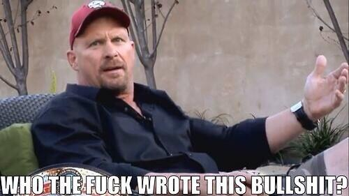 Even Stone Cold Steve Austin can't believe the #RoyalRumble result http://t.co/wOr1jtS8QG