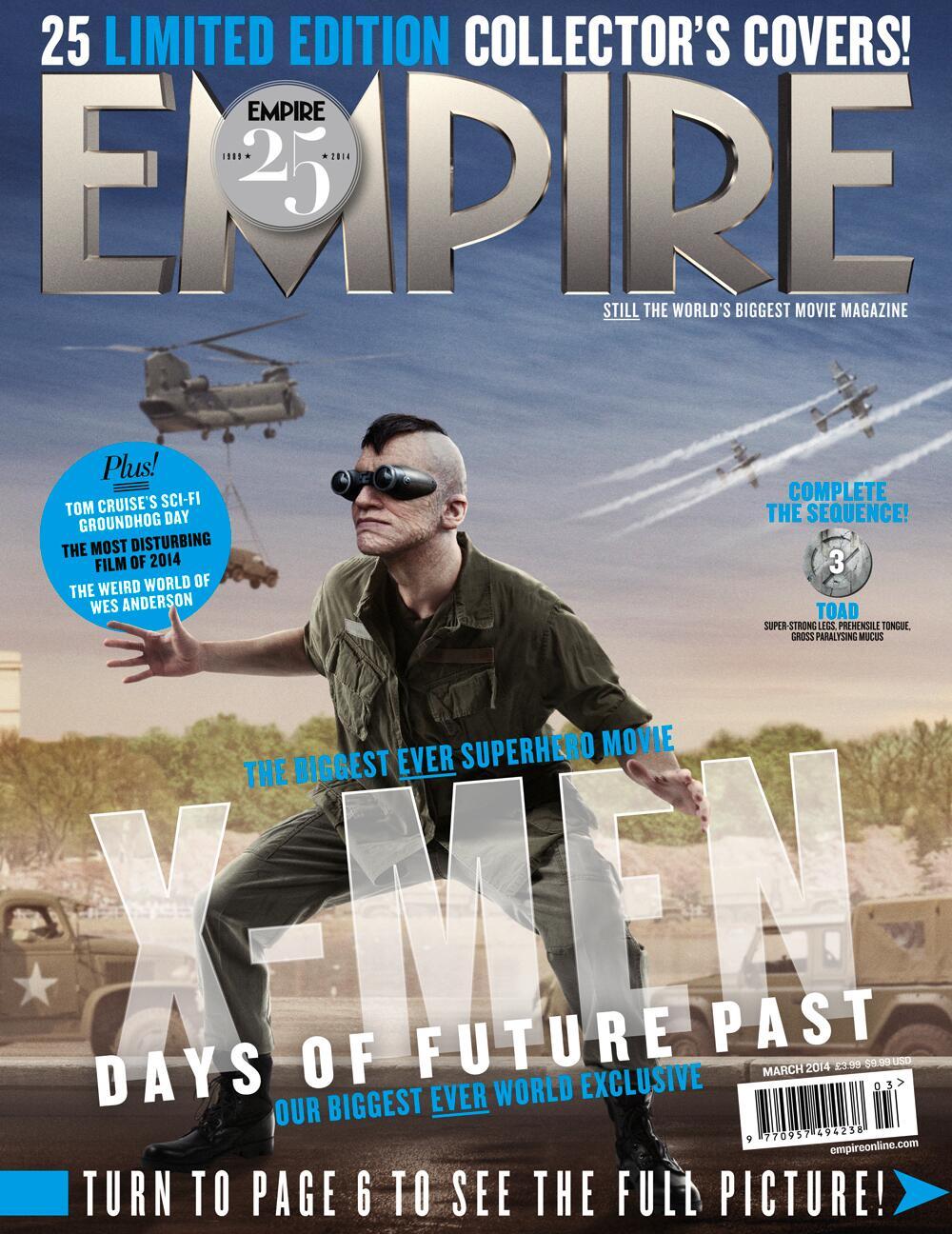 RT @20thCFoxSp: Apareció en #XMen en el 2000, Sapo vuelve al reparto, ahora es Evan Jonigkeit (@Johnakite). #Empire25 http://t.co/rqXkKgiX0k