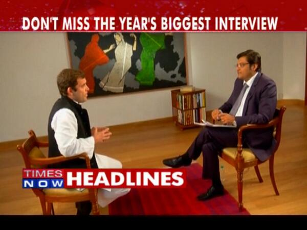 Rahul Gandhi Times Now interview
