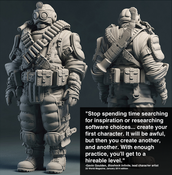 Great quote by @GavinGoulden, the lead character artist for Bioshock Infinite: http://t.co/BxU5kzxLKi