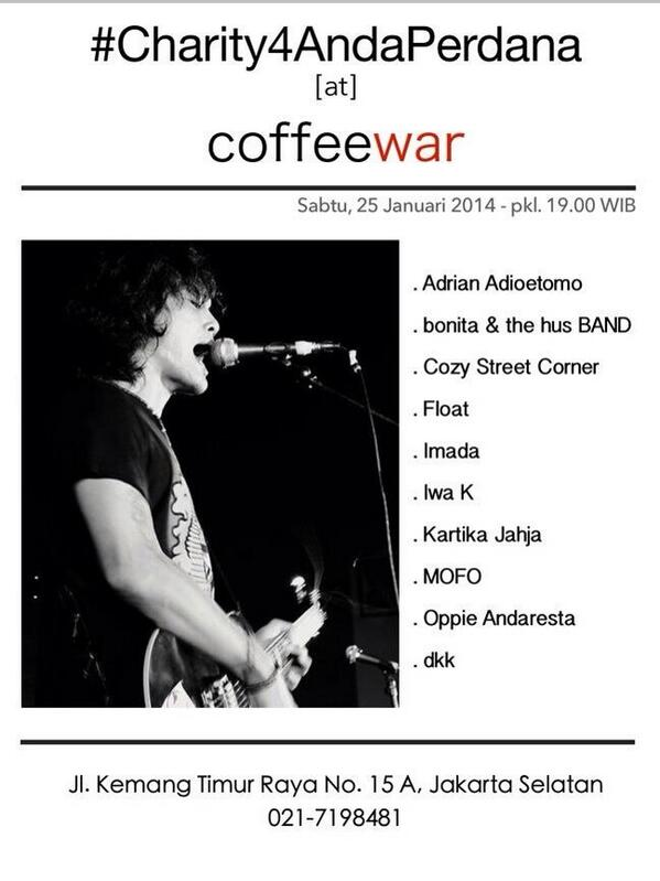 Tonight at @coffeewarID #Charity4AndaPerdana http://t.co/2RFGAfWWeV