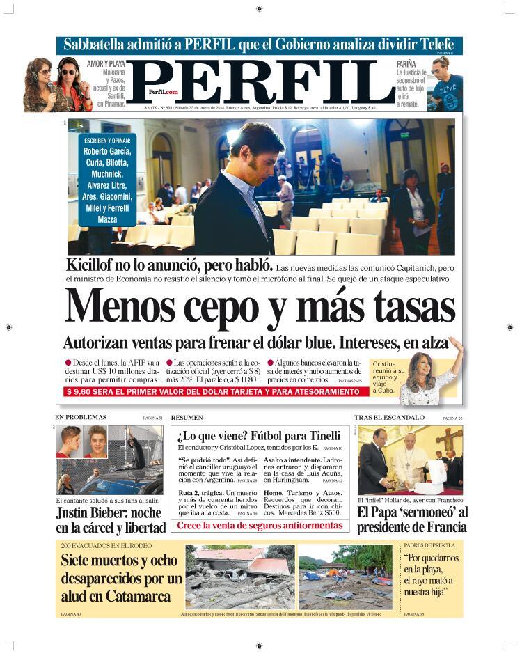 La tapa de Diario Perfil de hoy. http://t.co/hAJ1LkOyms