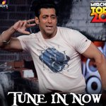 RT @ColorsTV: Tune into @COLORSTV NOW to watch your favorite celebrities on #MirchiTop20! @beingsalmankhan http://t.co/VGBtPYdxsv