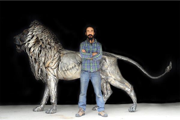 Metal Lion Sculpture by Selcuk Yilmaz - http://t.co/2V2nPH0OEe http://t.co/f4aMwBzXIK