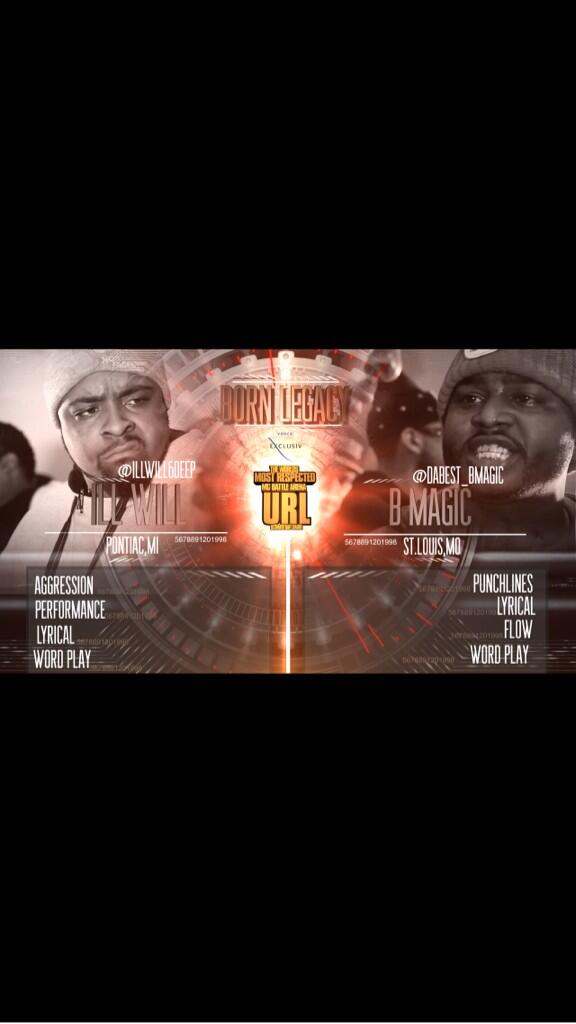 SMACK/ URL : Ill Will vs B Magic Tonight @ 8PM!!! http://t.co/Rb9A3yEijE - Spread The Word http://t.co/59nXKd0W1d
