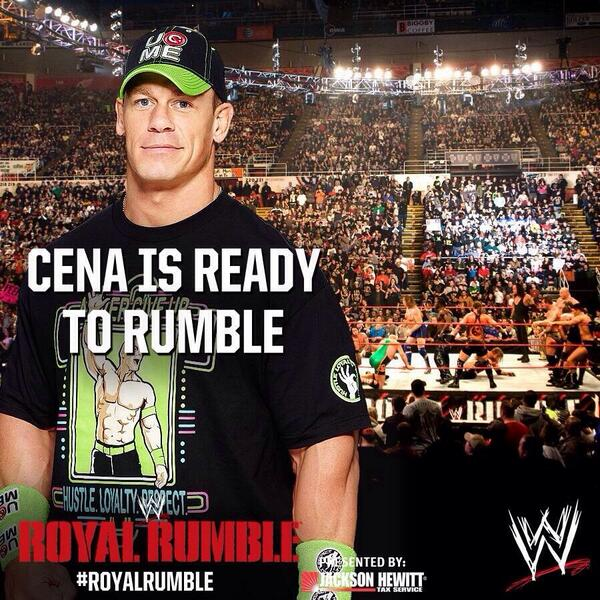 retweet if you'll be cheering on @JohnCena tomorrow at the #RoyalRumble http://t.co/5SzVEnw14Q