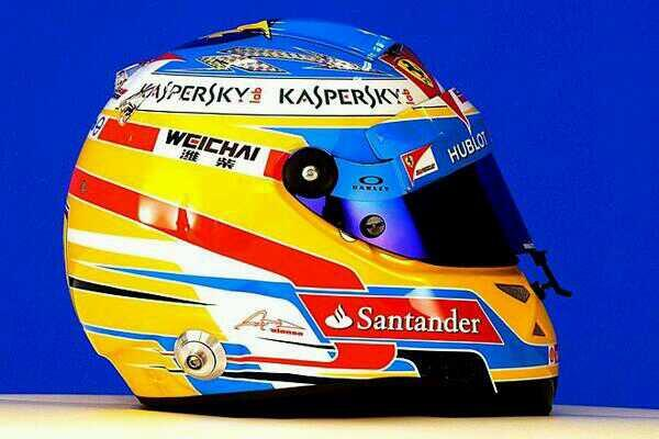 Behold, the @InsideFerrari official helmet for 2014. @alo_oficial #KimiRaikkonen #F1 #ForzaFerrari #OakleyFerrari http://t.co/TayC1xxB8z