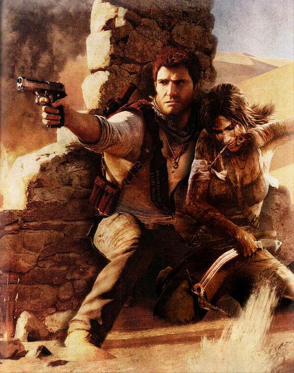Bien trouvé ^ ^ #uncharted #tombraider #laracroft #nathandrake http://t.co/2R9BeE3FQh