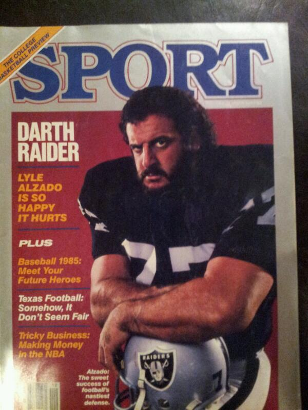 Digging through my archives and came across this. #LyleAlzado #Raiders http://t.co/z8kTW03hOt