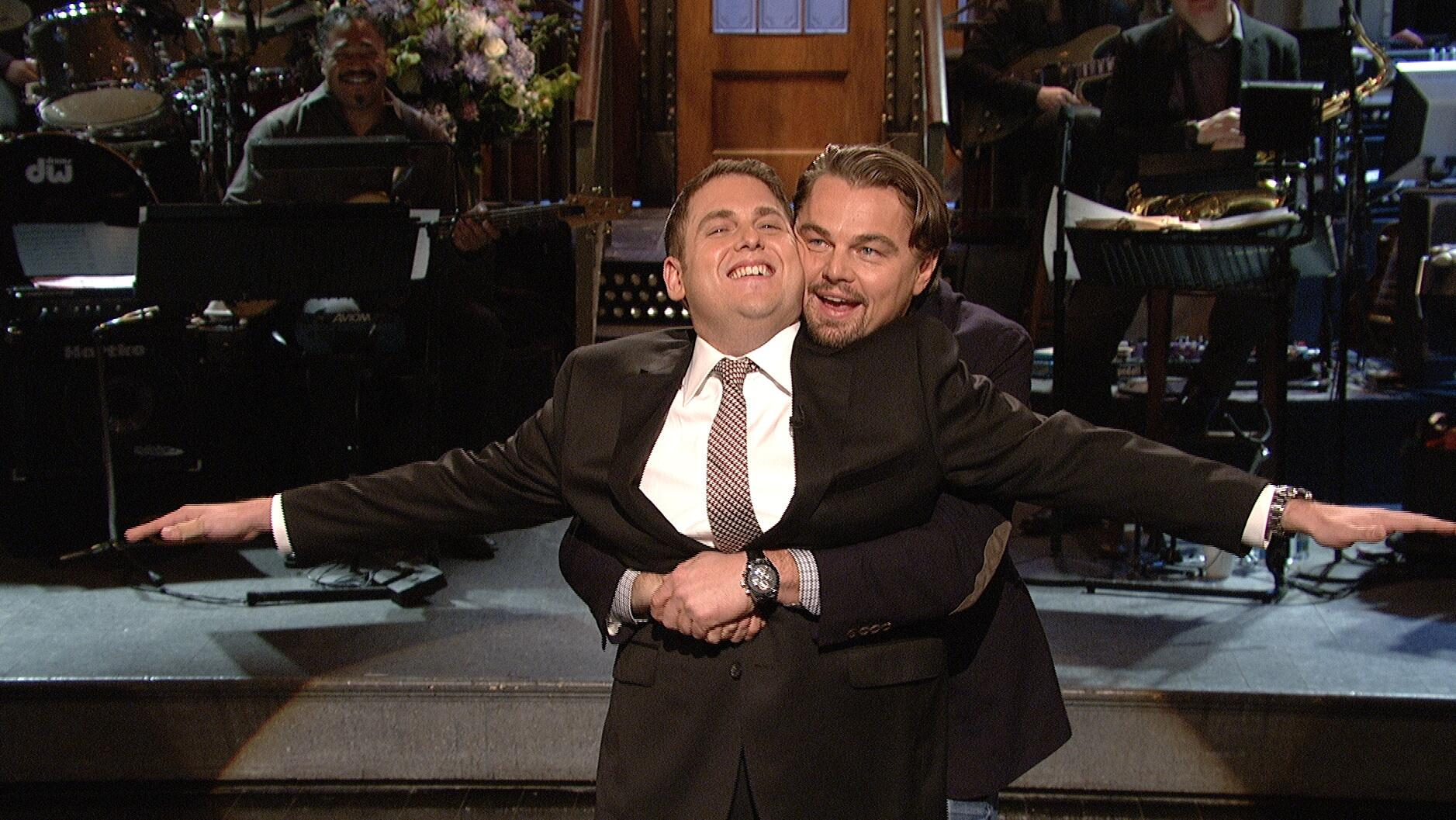RT @nbcsnl: 'You're flying!' - @LeoDiCaprio. @JonahHill monologue. #SNL http://t.co/waZ1hX2pk9