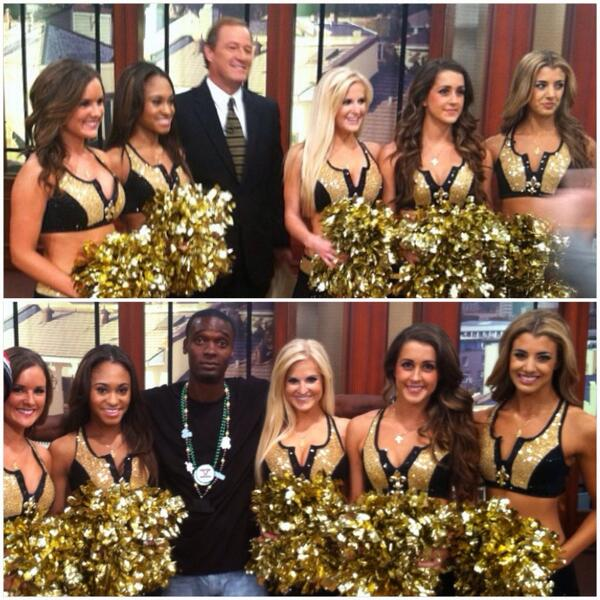 Sports reporter @MHossWWL along with myself & the @Saintsations ... #Wwltv #WhoDatNation #5starhero #WhoDat http://t.co/ZsnBMZ8b1G