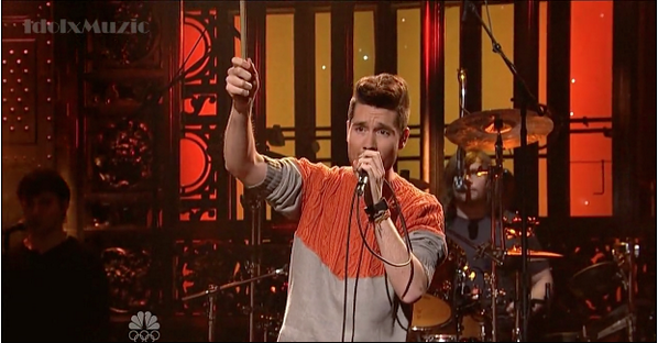 """Don't mind me, I'm just having an """"oh that jumper is glorious"""" moment about Bastille's SNL performance last night. http://t.co/J5m6XQMn8U"""