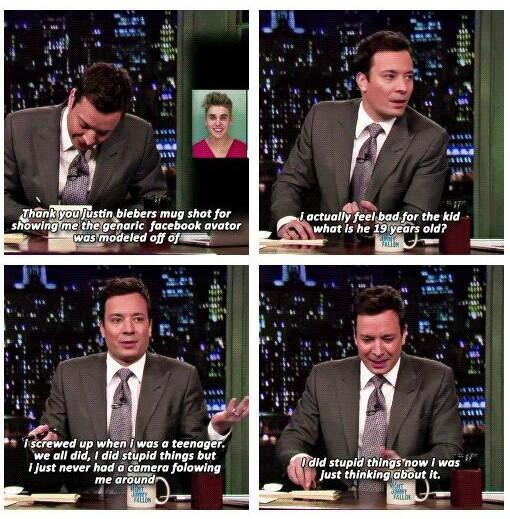 JIMMY FALLON DEFENDED JUSTIN, I THINK HE FELT BAD FOR WHAT HE SAID BEFORE http://t.co/CHoWYGcMHo