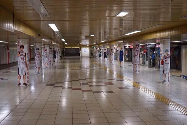 黒バス、円柱ポスターいつまでかな? 今すぐ新宿行きたい。写真撮りに行かなきゃ http://t.co/cxMELTXnUe