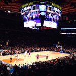 Nice way to spend Sunday afternoon in NYC.  Lakers/Knicks - And later tonight, Caroline's Comedy Club. Perfect day!