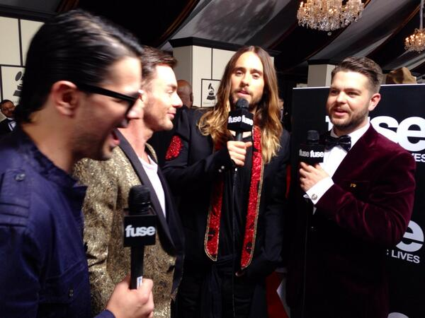 Huge year for @JaredLeto and @30SECONDSTOMARS, love these guys!! @TheGRAMMYs #GRAMMYs #fuseGRAMMYs http://t.co/xwX9QQ2zxa