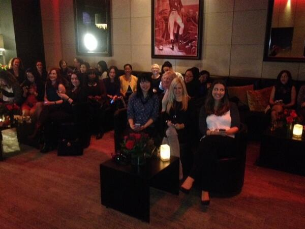 Have you ever seen a room full of so many babes? Love my fellow #musicglam tweeters.