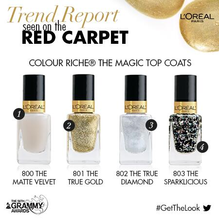 The #Grammys2014 is the perfect time for nail art... RETWEET for the chance to WIN these #ColourRiche Top Coats! http://t.co/F0BUhUGmPr
