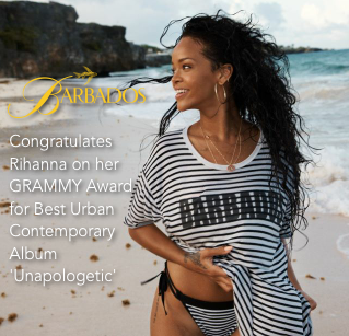 Congratulations on your #GRAMMY from your proud home island, @Rihanna! http://t.co/DuJCR1bsRv