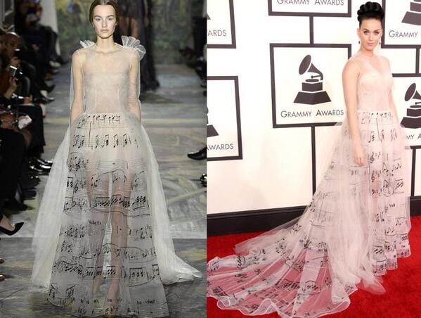 From runway to redcarpet, @Katyperry's @MaisonValentino couture dress. Does it hit the right note? http://t.co/9y8HJyCJ2h