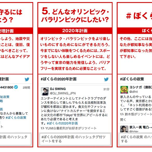 今回東京都知事選挙に立候補した @hbkr 氏が政策をSNSで募集していたので僕は東京で活動する1人のDJとしての提案をしたら http://t.co/GUmn5NKfRa にすぐに反映されていた。正に2014年の目安箱。 http://t.co/FbYa0WruZT