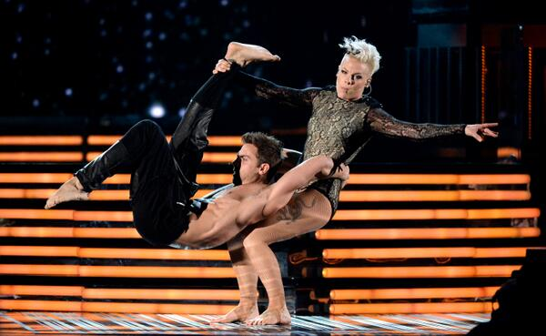 COVERGIRLs: Making the impossible look easy breezy. cc: @Pink @TheGRAMMYs #GRAMMYs http://t.co/OwJDCA6ipL