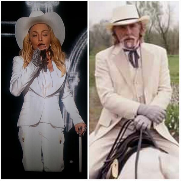 logs off RT @Just_like_Ike: I'm out. RT @SKTV_: Madonna came out lookin like Big Daddy from Django #GRAMMYs http://t.co/UAxj0XarMc""