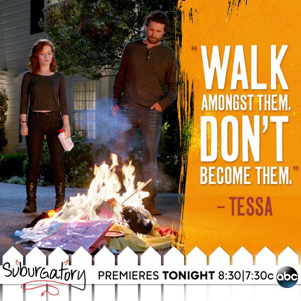 #Suburgatory premieres TONIGHT on ABC! Tweet live with the cast tonight using #CastChat starting at 8:30|7:30c. http://t.co/2Rl5rcdVWV