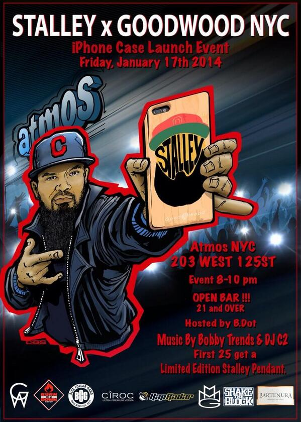 Its going down this Friday, Jan. 17th @atmosNYC with @Stalley!  Hosted by @bdotTM and music from  DJ @DJBOBBYTRENDS http://t.co/PEnjoLUzL9