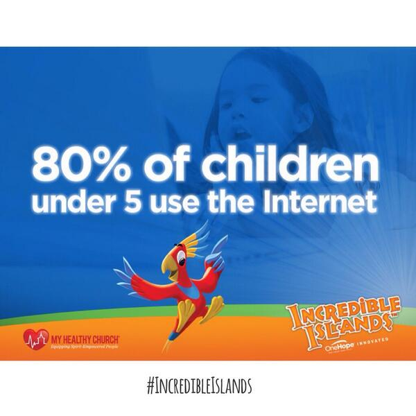 80% of kids <5 are online. #IncredibleIslands provides a way to redeem online time for spiritual formation! #cpc14 http://t.co/gyXNZO8LNp