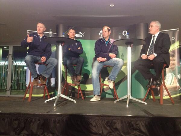 RT @Darbycam: @irfurugby Great night listening to Joe Schmidt and the Ireland coaching staff. Roll on 6nations.. http://t.co/4AB3FX1d7l