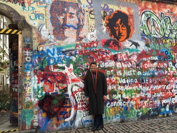 The Lennon Wall in Prague...freedom! http://t.co/vfc3tDTnGu