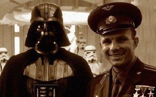 Rare historical photo of Gagarin visiting Death Star http://t.co/DtD1fa22yd