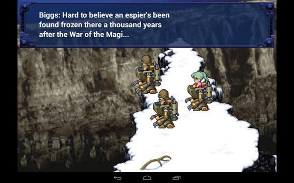 """Still baffled at how """"esper"""" is spelled wrong in the first 30 seconds of Final Fantasy VI mobile. Can't support this. http://t.co/fC7SiCUgGV"""