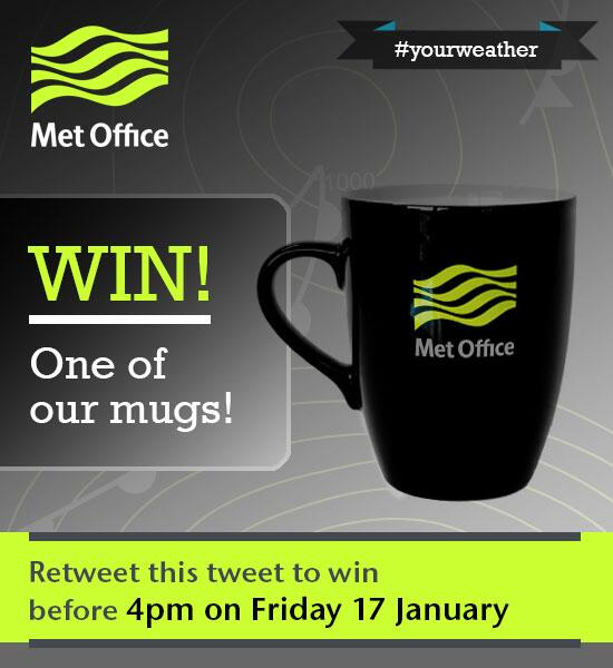 Retweet to win before 4pm Friday to win one of our mugs T&Cs: http://t.co/io7YW0srGc #yourweather http://t.co/0tYdDvgHKi