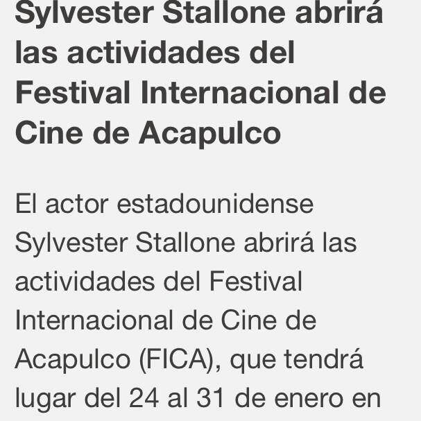 @Adela_Micha Adela Sylvester Stallone en Acapulco en el FICA !Espero ver la entrevista con Adela http://t.co/RnWbFqgouW
