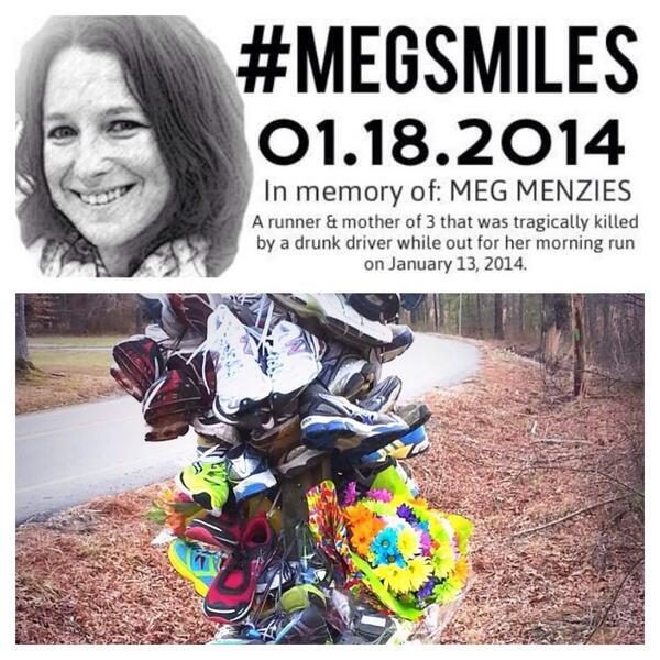 Show love & support 2 a fellow runner who lost her life on a run this wk. #megsmiles on your run. Spread the word. http://t.co/5cme83CdTS