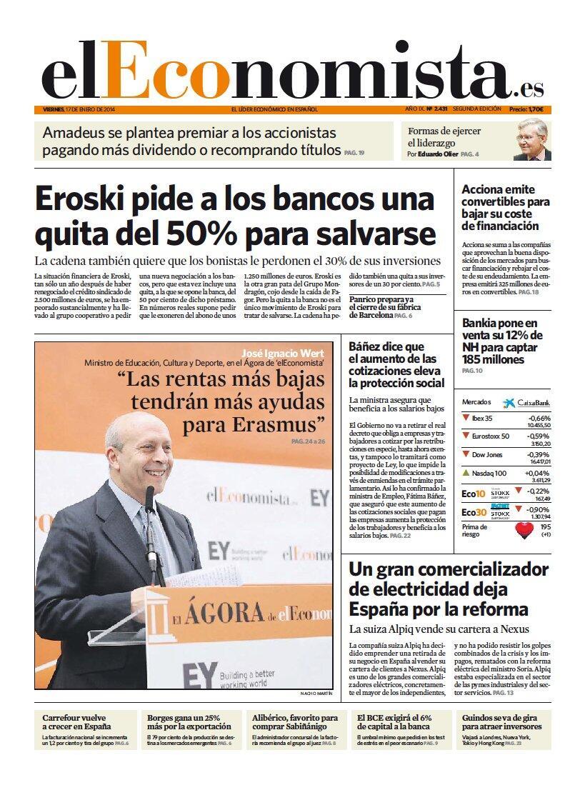 Les dejamos la #portada de 'elEconomista' http://t.co/xLkYXyQRPu