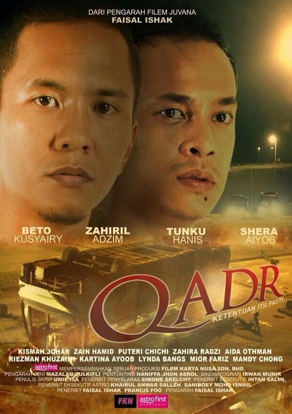 Saksikan Qadr hanya di Astro First! Fav actors aku @Beto_Kusyairy @ZahirilAdzim @SheraAiyob arahan @faisalskis http://t.co/1nafLfssDo