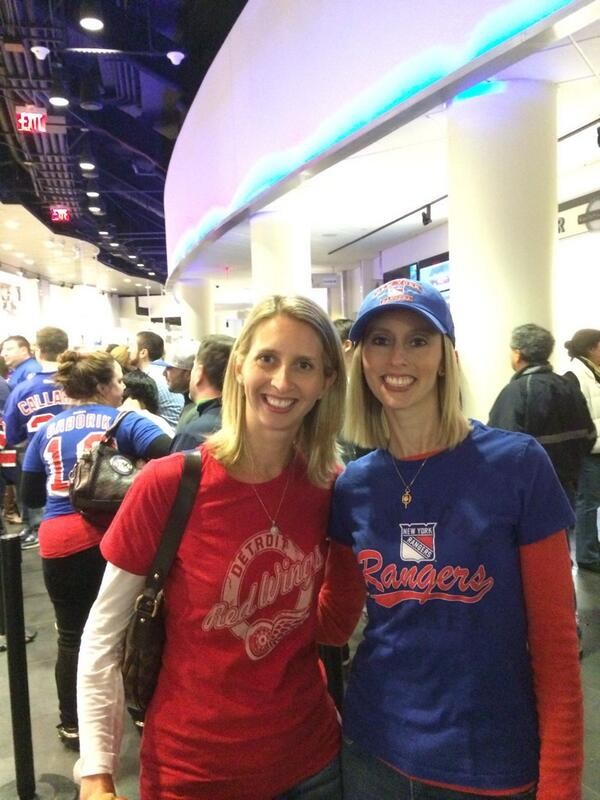 My sister, my best friend, a @DetroitRedWings fan. Two out of three ain't bad. Go @NYRangers! @nhl #nyr http://t.co/e5Qqw2j1P5