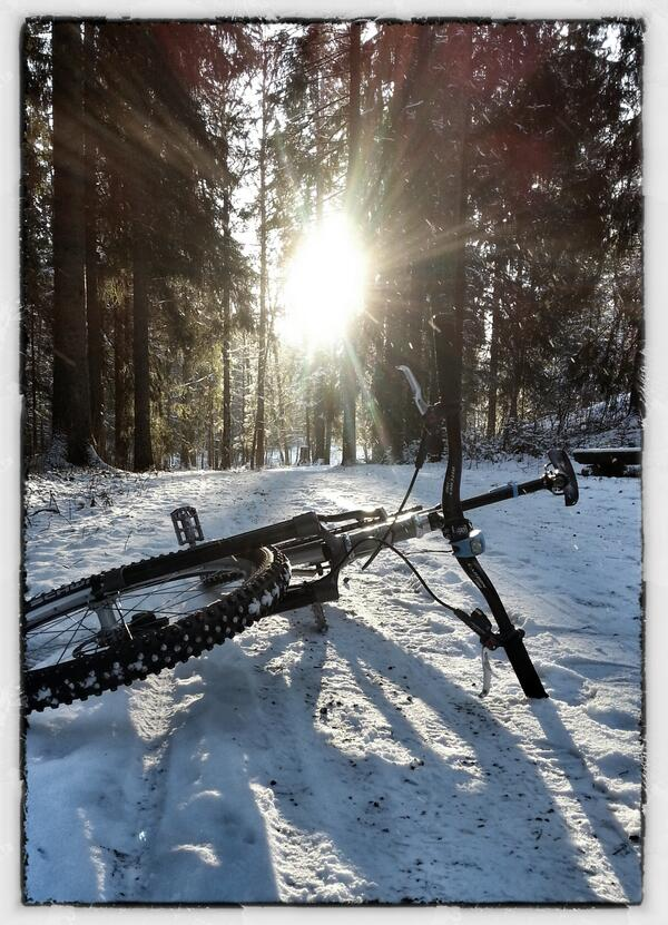 In #winter we #trust. Winter #sun #biking #woods #nature #Oslo #Norway  #mobile #photography #sykkel http://t.co/s9McFWUmdW