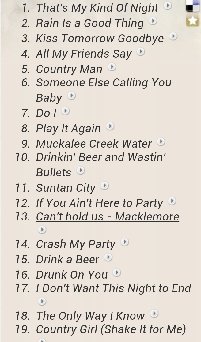 Luke Bryan's 2014 song set list! #TMKONTOUR http://t.co/iTMuZ4aSKk