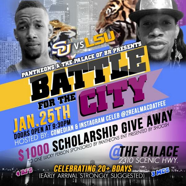 JUST In CASE you Didn't Receive The MEMO ☝️ Baton Rouge Is The Wave Next Weekend #BattleForTheCity