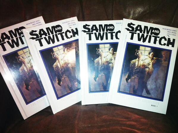 GIVEAWAY: I have a few Sam & Twitch HC books; I'll sign them for a few lucky fans! Follow/RT to enter! http://t.co/wUKJNozeln
