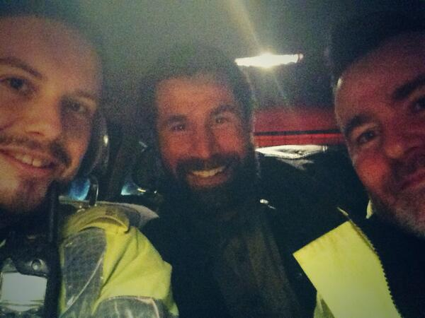 Massive thanks to the @gwentpolice traffic guys for their help. #topguys #neverbeenhappierinthebackofapolicecar http://t.co/yd2MhEg6db